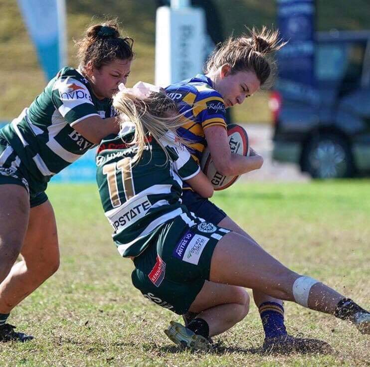 Chloe Saunders UNE Lion Rugby Tackle