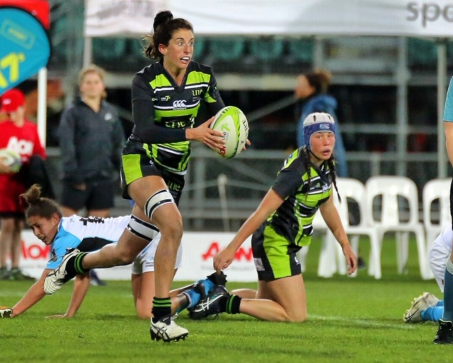 Alicia Quirk 2019 UNE Rugby Lions in action