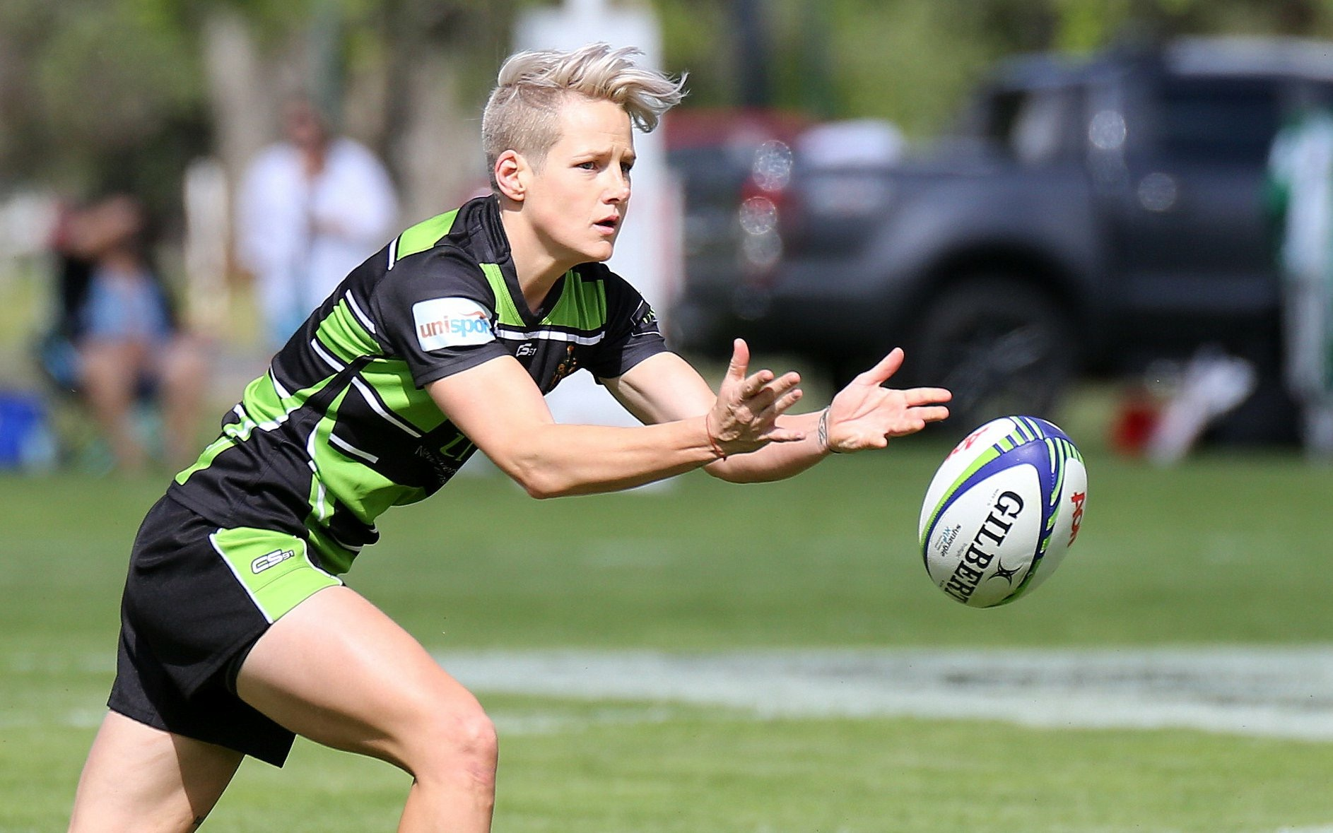 Tahlia Goldsmith, UNE Rugby Lion in action