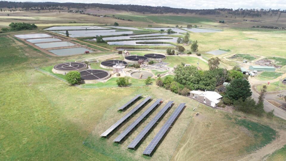 Armidale Water Treatment Plant Drone shot