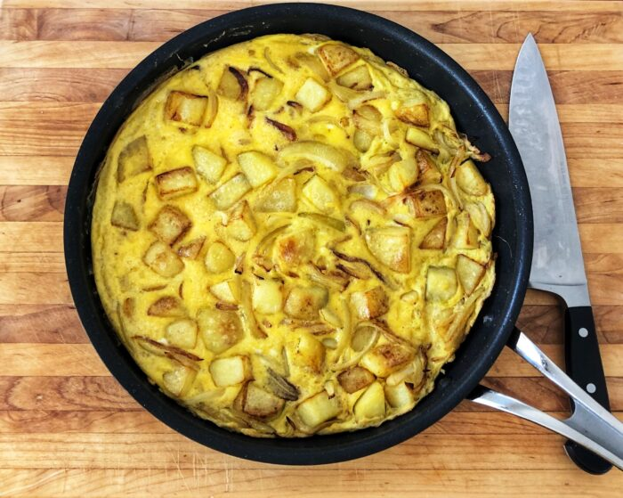 Omelette, Spanish Tortia. Wellness Hub Recipe from Life, Functions & Catering