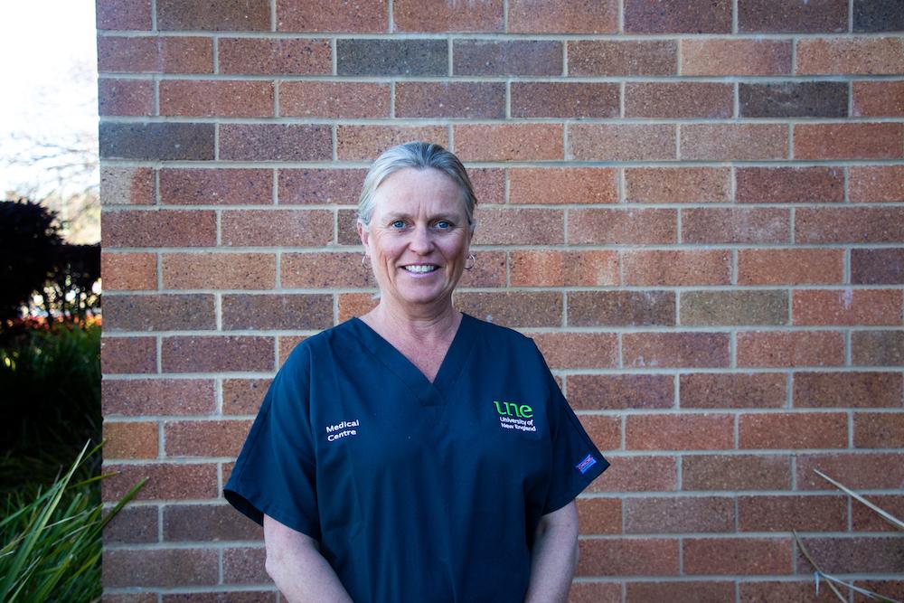 Registered Nurse, Tanya Alcorn, UNE Medical Centre