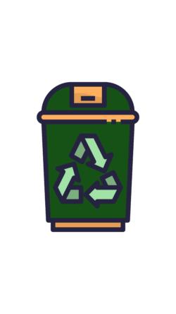Green Recycle Bin, UNE