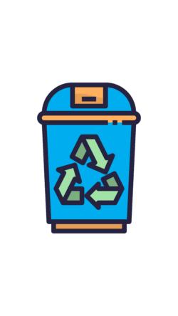 Blue Recycle Bin, UNE