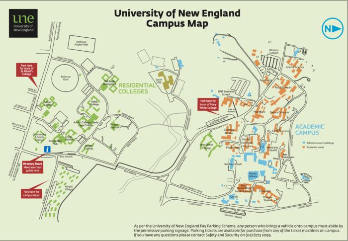 UNE Colleges Campus Map