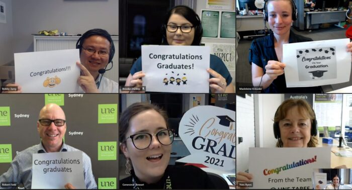 UNE Sydney, Taree & Tamworth, Graduation well wishes