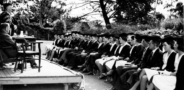 Historic photo of UNE Grad from Jane Lally