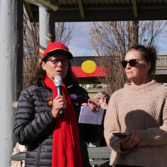 Cynthia Briggs Maree McKenzie, Bridge Walk 2021, Armidale