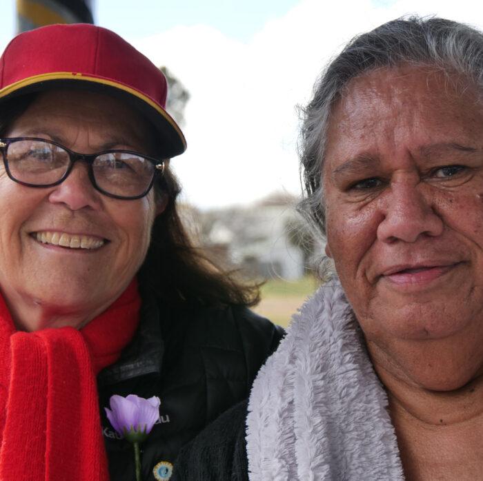 Cynthia And Hazle, Bridge Walk 2021, Armidale