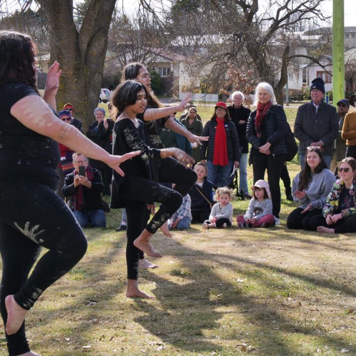 Dancers, Bridge Walk 2021, Armidale