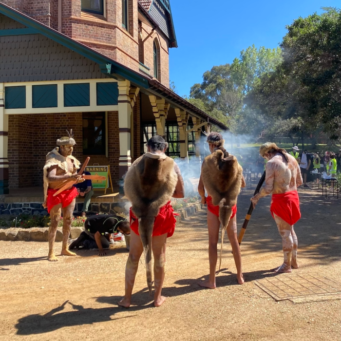 Traditional Smoking Ceremony at Booloominbah Welcome Ceremony 2021