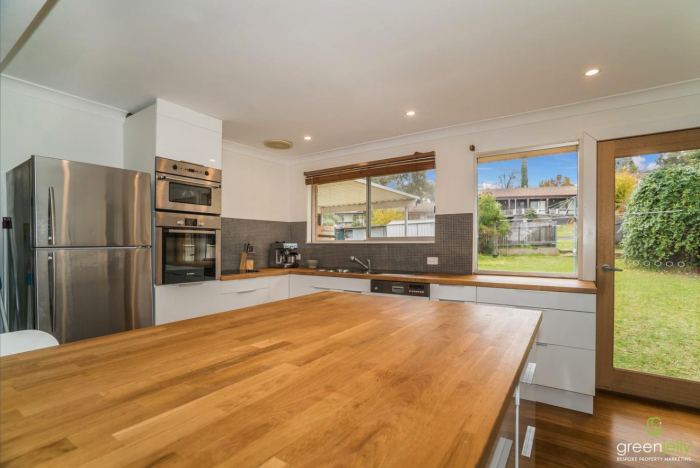 Large Modern Kitchen with island bench in share house