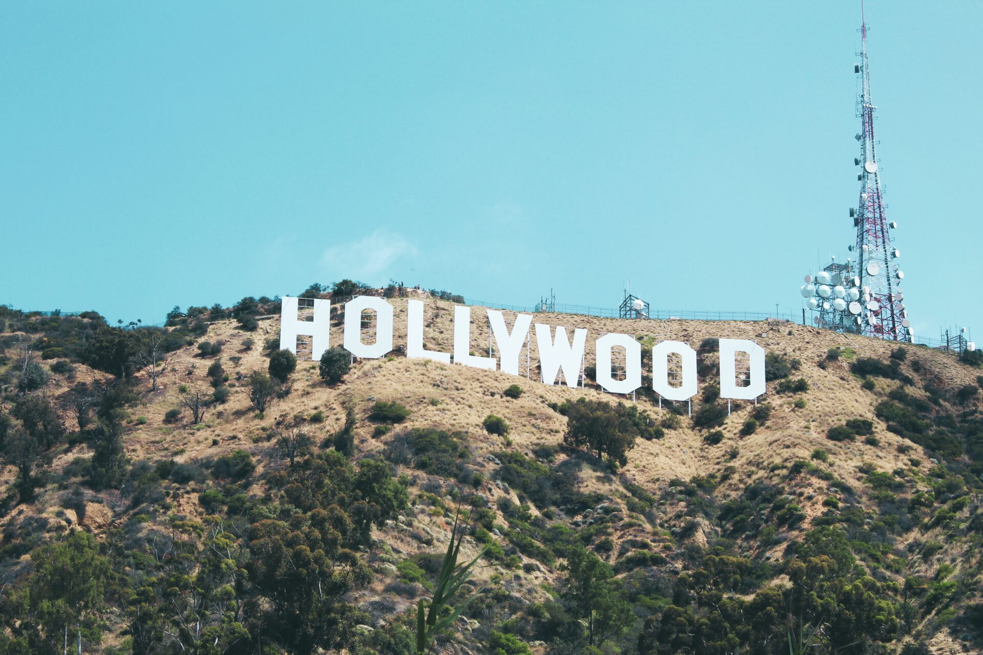 photo of hollywood sign on the hollywood hills